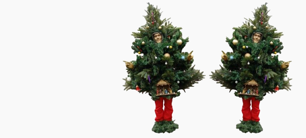 het levende kerstboompje