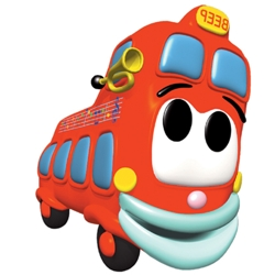 de wielen van de bus boeken